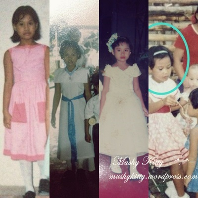 [Left to Right]: School Event in Grade 5. Church Event in Grade 3. Aunt's Wedding in Grade 2. During my 6th Birthday.